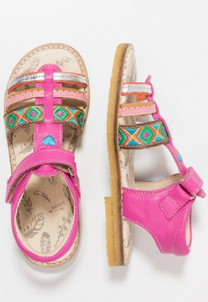 ShoesMe BOHO Leather Velcro Sandal (Pink)